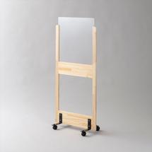 アクリル板 コロナ対策 床置きパーテーション スチール脚 アクリル・下部窓付きタイプ(キャスター付き)