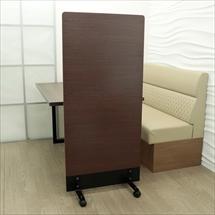 アクリル板 コロナ対策 床置きパーテーション スチール脚 総化粧板仕上げタイプ(キャスター付き)