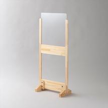 アクリル板 コロナ対策 床置きパーテーション >アクリル・下部窓付きタイプ