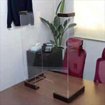 飛沫防止アクリル板 木製コの字タイプLスタンド奥行き300 商品写真