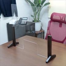 飛沫防止アクリル板 木製エンドスタンドH300窓ありタイプ 商品写真
