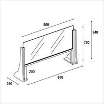 飛沫防止アクリル板 木製ジャンボスタンド 図面