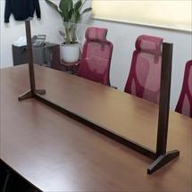 飛沫防止アクリル板 木製エンドスタンドH600 アクリル高さH600 アンダーレール 商品写真