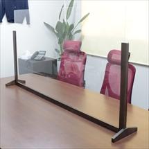 飛沫防止アクリル板 木製エンドスタンドH600 アクリル高さH800 アンダーレール 商品写真