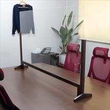 飛沫防止アクリル板 木製エンドスタンドH600 アクリル高さH800 かさ上げレール 商品写真