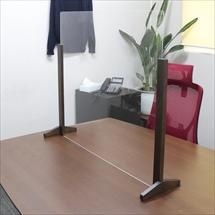 飛沫防止アクリル板 木製エンドスタンドH600 商品写真
