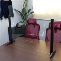 飛沫防止アクリル板 木製エンドスタンドH600窓ありタイプ 商品写真